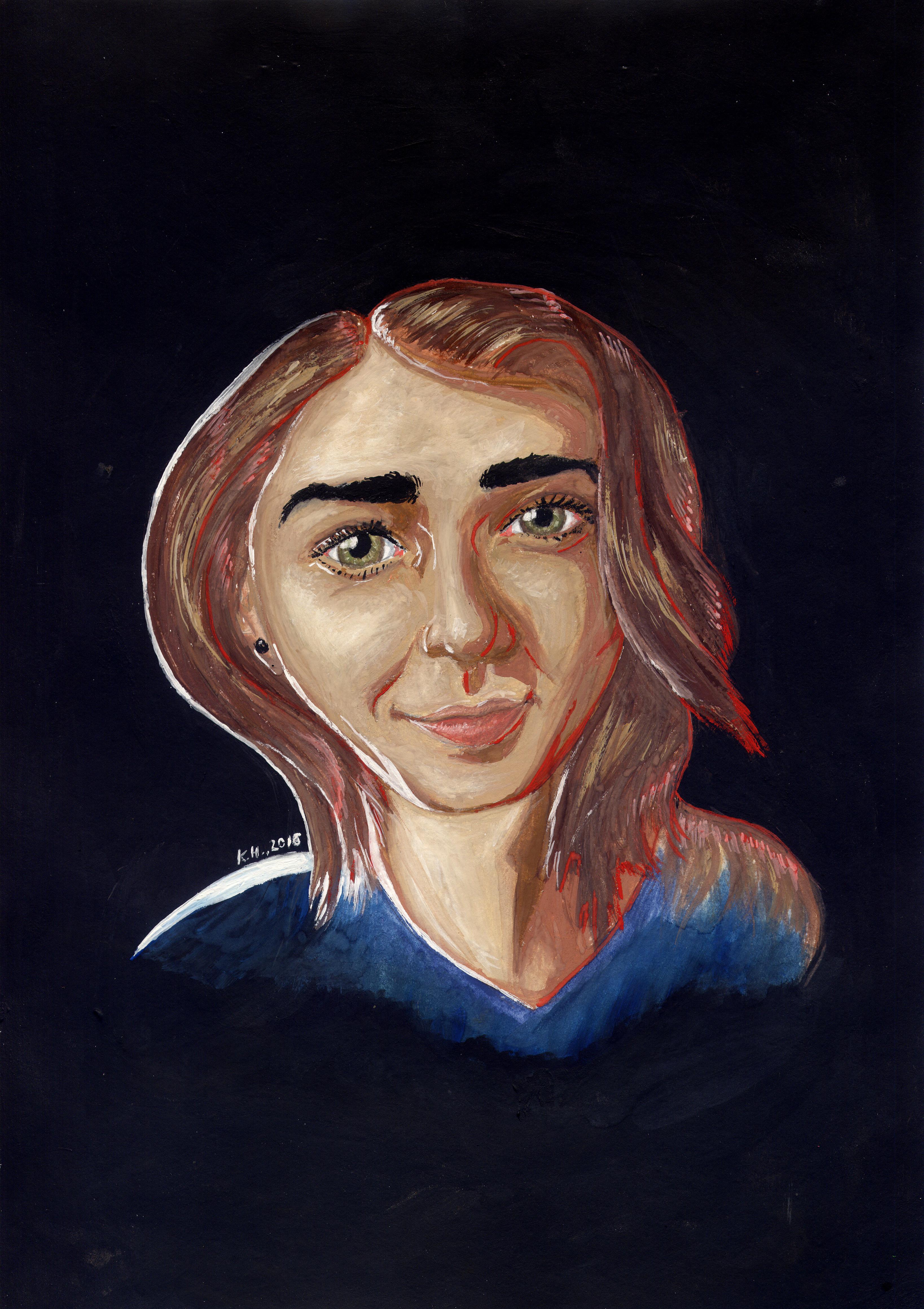 """Портрет Мэйси Уильямс (""""Игра престолов""""). А4, акриловые краски."""