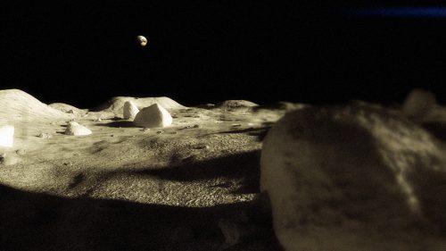 Лунная пыль - Луна (Ранний рендер)