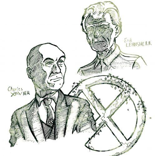 "Professor X and Magneto (""X-Men"")"