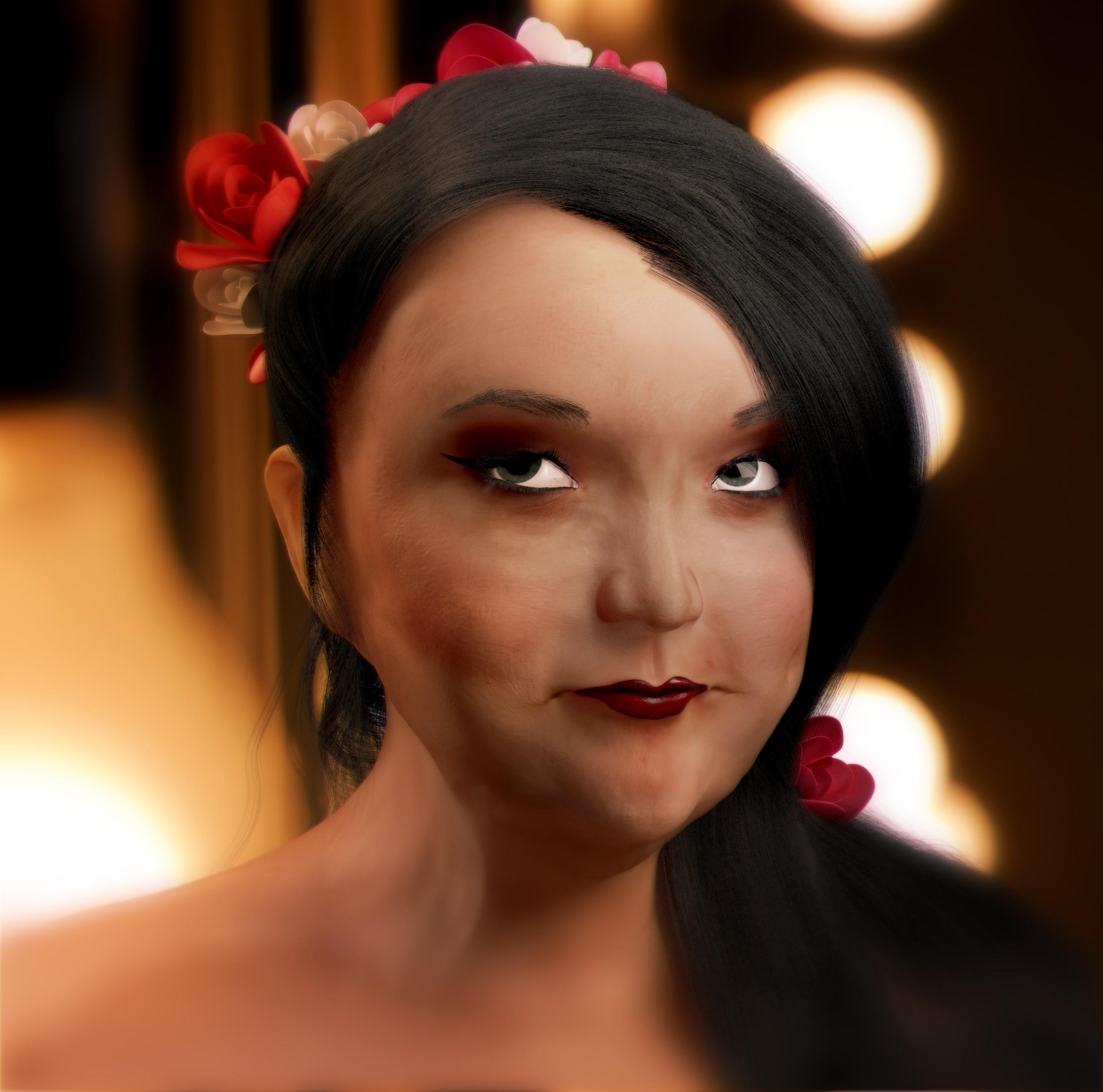 Лера 3D (Портрет, WIP)