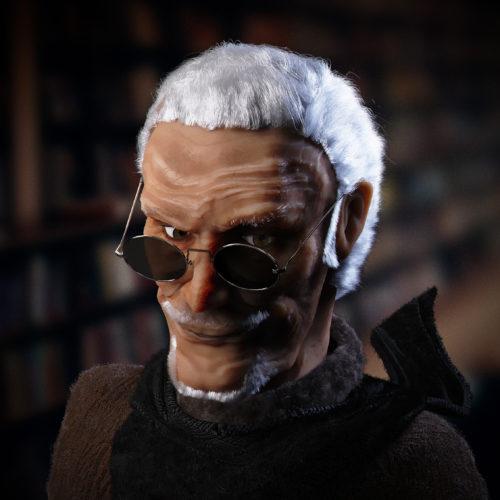 Edward Preyfield, Scientist (Character Portrait in 3D)