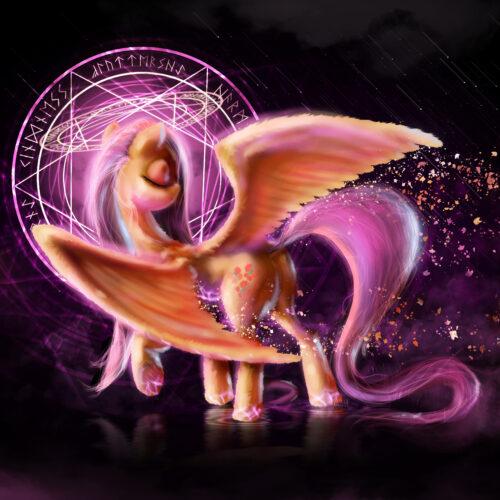 Fluttershy (Fanart, Night Magic 1/6)
