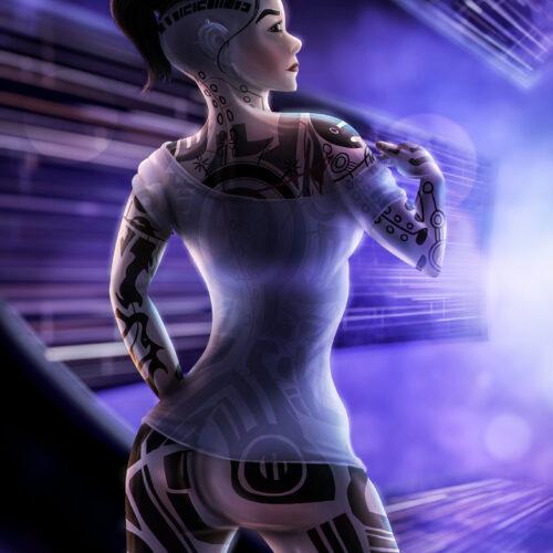 Jack (Subject Zero) from Mass Effect (Art)